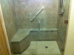 Bathroom Shower Stalls With Seat Glass Shower Stall Seat La Canada Flintridge Builders