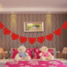 online get cheap red heart decorations aliexpress com alibaba group 3 meter romantic red love heart garland flags banner wedding valentine s day home decoration birthday party