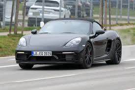 modified porsche boxster porsche 718 boxster spyder first spy shots gtspirit
