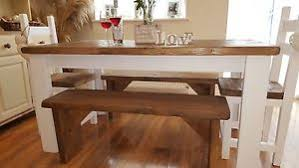rustic table and bench ebay