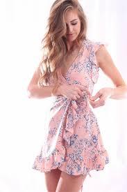 pretty dress pretty in pink wrap dress rapture boutique