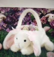 plush easter basket bearington 13 plush bountiful bunny easter basket 4520 new