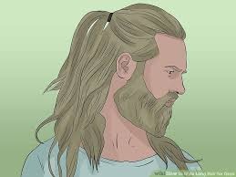 hhort haircut sketches for man 4 ways to style long hair for guys wikihow