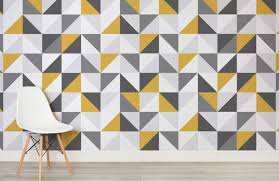 yellow and grey abstract geometric wallpaper murals wallpaper