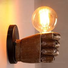 retro 1 light clenched fist creative indoor wall light u0026 exposed