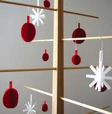 Tall Wooden Christmas Decorations by Holiday Decor Wooden Christmas Trees Remodelista