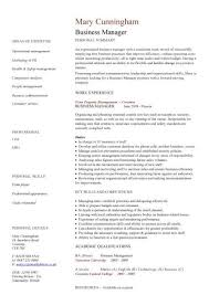 business management resume exles business manager cv sle time management resume organizing