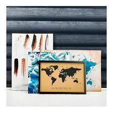 World Map Cork Board by Wall Art Clocks Mirrors The Design Edit