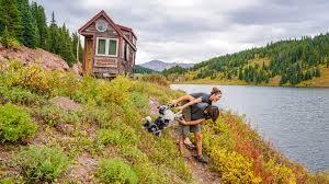 Colorado Small House Tiny House Eviction Giant Journey Black Lake Vail Pass Colorado