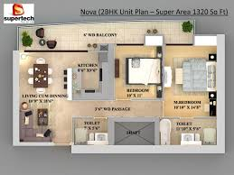 Home Design 3d 2 Bhk Two Bedroom Houseapartment Floor Plans With Magnificent 2 Bhk Home