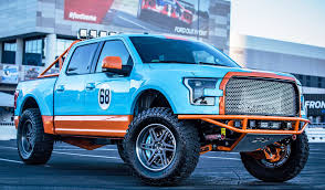 truck ford blue ford sema 2015 custom trucks