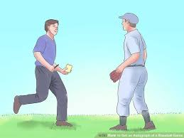 how to get an autograph at a baseball game 9 steps