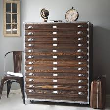 Wood Flat File Cabinet Get It For Less Vintage Industrial Flat File Cabinet Apartment