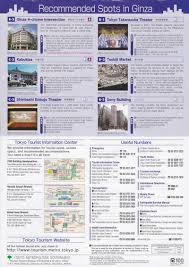 map with things to do in ginza tokyo japan ttt brochure rack