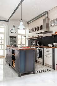 chicago industrial kitchen island with stainless steel ovens