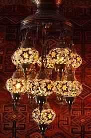 Turkish Chandelier Eleven L Mosaic Chandelier