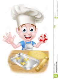 cartoon chef boy baking stock vector image 63954738