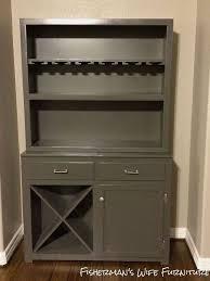 Bar Hutch Cabinet Hutch To Wine Bar Makeover Hometalk