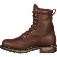 brown leather motorcycle boots men u0027s original ride rocky steel toe waterproof lacer western boot