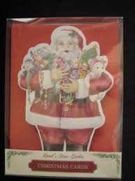 carol wilson christmas cards santa claus carol wilson arts 10 christmas cards envelopes