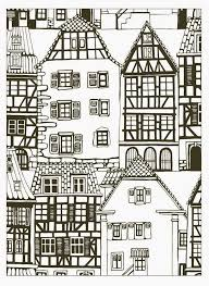 coloring pages houses free coloring page coloring house style alsace france