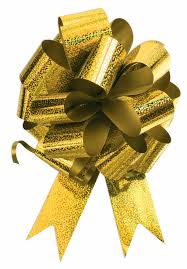 10 5 u0027 gold pull bow pew bows wedding decorations christmas gift