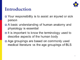 Human Anatomy And Physiology Terminology Introduction To Anatomy And Physiology 2 Introduction Your