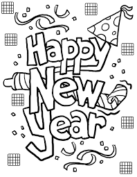tremendous new years coloring pictures free printable pages for