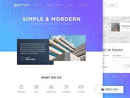 architecture layout design psd modern architecture website template free psd download download psd