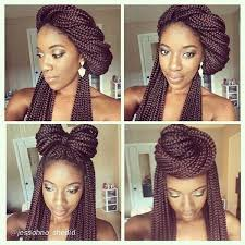 images of black braided bunstyle with bangs in back hairstyle easy and cute box breaids bun style ghana braids pinterest