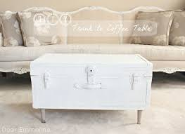 Trunk Coffee Table With Storage Decoration Ideas Terrific White Wooden Rectangular Storage Trunk