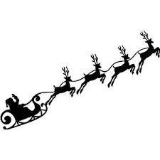 santa sleigh and reindeer free svg file santa and sleigh beaoriginal