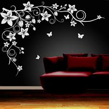 wall art ideas design red flower wall art simple butterfly ebay