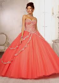 coral quince dress quinceanera dresses 2014 coral naf dresses