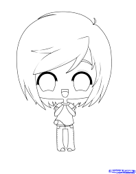 fabulous cute anime chibi coloring pages with chibi coloring pages