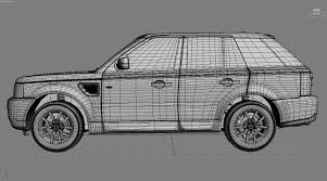 land rover drawing range rover sport 3d model in suv 3dexport