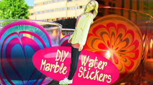 diy water marble room decor how to make stickers at home youtube