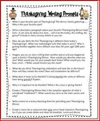 thanksgiving writing prompts middle school project edu