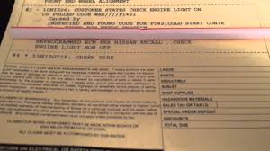 nissan check engine light codes quick fix common nissan check engine light code p1421 ecm youtube