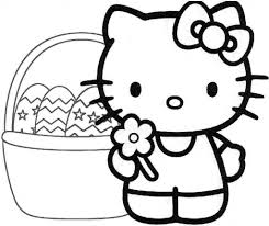 free hello kitty easter coloring pages hello kitty coloring pages