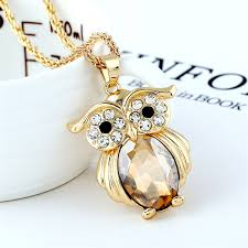 crystal owl necklace images Owl necklaces crystal trendy amusing pet jpg