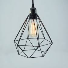 Light Bulb Pendant Fixture by Geometric Diamond Vintage Edison Light Bulb Cage For Pendant