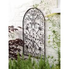 Garden Wall Decoration by Outdoor Metal Wall Decor Simple Outdoor Com