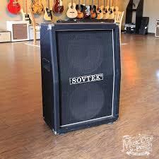 marshall 2x12 vertical slant guitar cabinet 1990s sovtek 2x12 vertical slant cabinet w two celestion reverb