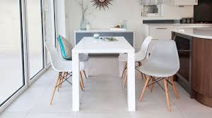 Eames Chair Dining Table White Gloss 4 Seater Table And Eames Style Dining Chairs Uk