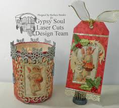 gypsy soul laser cuts christmas candle holder and gift tag