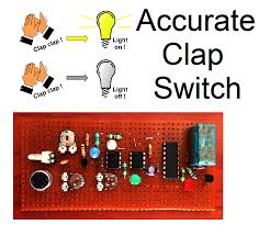 clap to turn off lights clap switch circuits