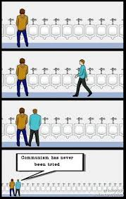 Urinal Checkmate Meme - communism has never been tried urinal etiquette know your meme