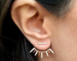 ear earring spike ear jacket etsy