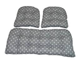 Wicker Settee Cushion Set Indoor Outdoor X Large Deluxe Tufted Cushion Set For Wicker